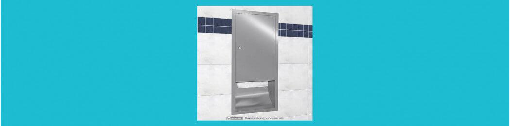 Distributeurs d'essuie-mains à encastrer au mur