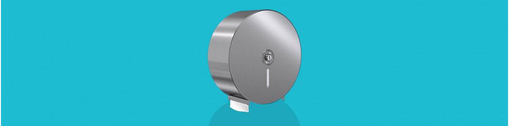 Jumbo-roll toilet tissue dispensers