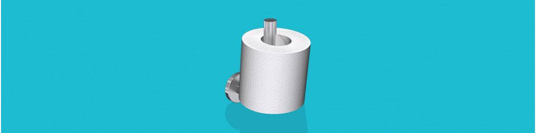 Portes-rouleaux de papier toilette de réserve