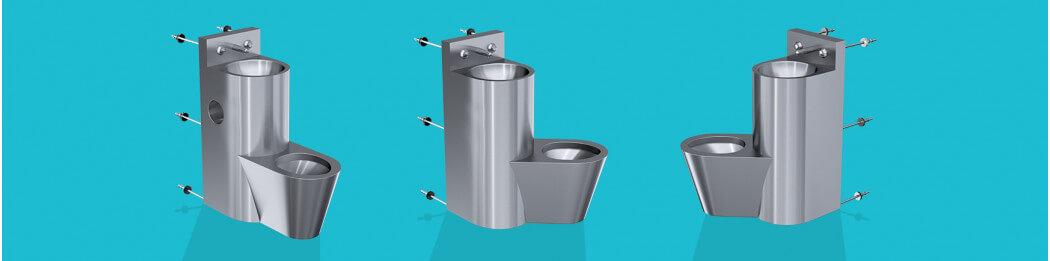 Combinés WC, lavabos, porte papier toilette