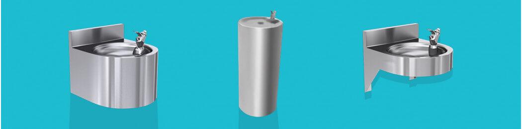 Fontaine à eau raccordées - en inox